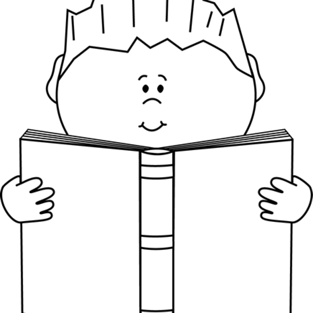Reading a book clipart black and white clip art black and white stock Book Clipart Black And White sun clipart hatenylo.com clip art black and white stock