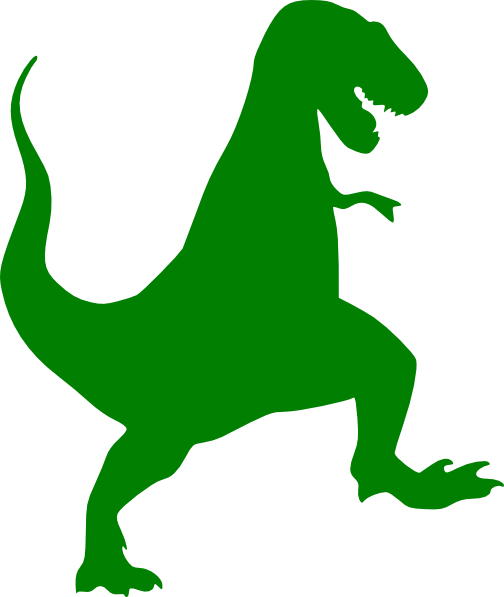 Tyrannosaurus with muscles clipart royalty free Green T-rex Silhouette clip art - vector clip art online, royalty ... royalty free