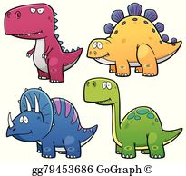 Dinosuars clipart vector library Dinosaurs Clip Art - Royalty Free - GoGraph vector library