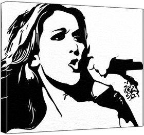 Dion clipart graphic black and white library Celine Dion - Pop Art Print - 60 x 50 x 1.8 cm Deep Box Canvas ... graphic black and white library