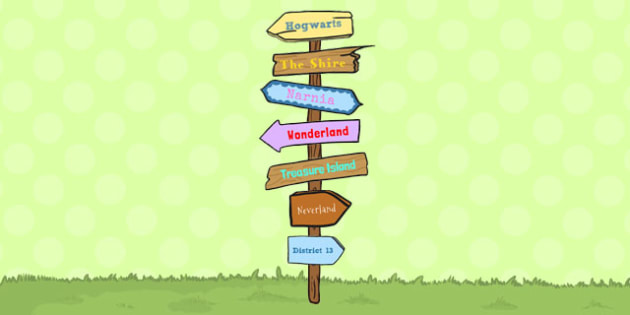 Directional signposts to places kids reading clipart clip art library download Story Sign Post Display Pack - story, sign post, display, pack, reading clip art library download
