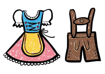 Dirndl und lederhose clipart banner free library Clipart dirndl lederhose - ClipartFest banner free library