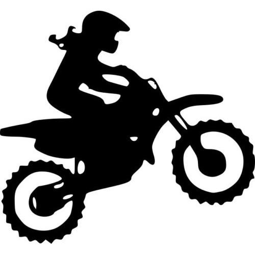 Funny dirt bike clipart black and white clip black and white download Dirt Bike Decal: Amazon.com clip black and white download