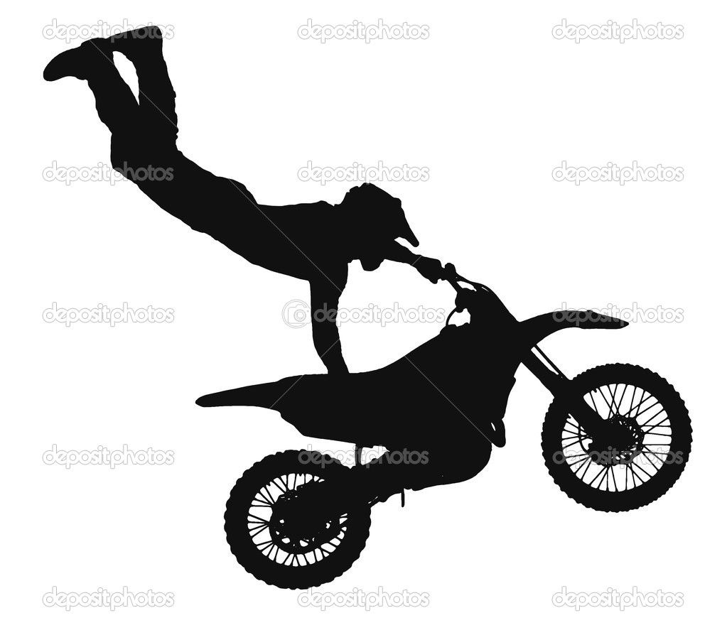 Supercross stunt jump clipart