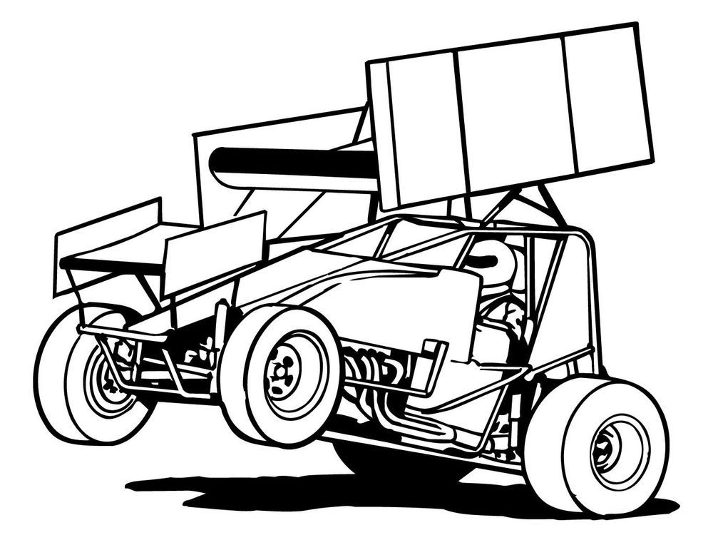 Dirt racing clipart banner library sprint car clipart - Google zoeken | Racing | Cars coloring pages ... banner library
