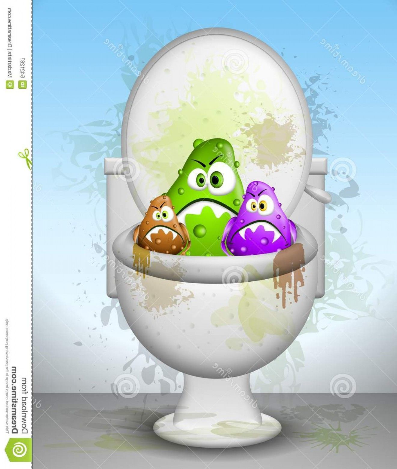 Dirty bathroom clipart banner library library Cartoons Dirty Bathrooms: Royalty Free Stock Photography Ugly Dirty ... banner library library
