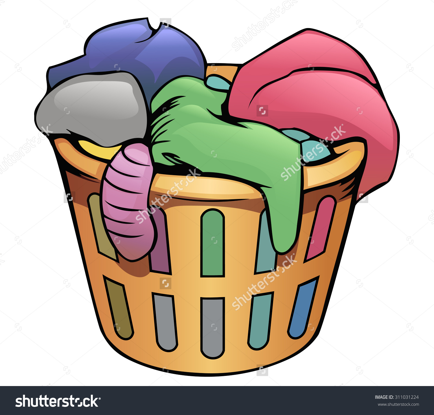 Dirty clothes basket clipart image royalty free library Clothes Hamper Clipart | Free download best Clothes Hamper Clipart ... image royalty free library