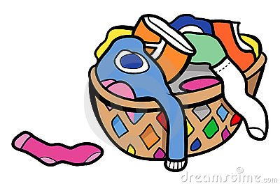 Dirty clothes basket clipart graphic free Dirty Clothes Hamper Clipart, Wooden Laundry Basket Clip Art ... graphic free