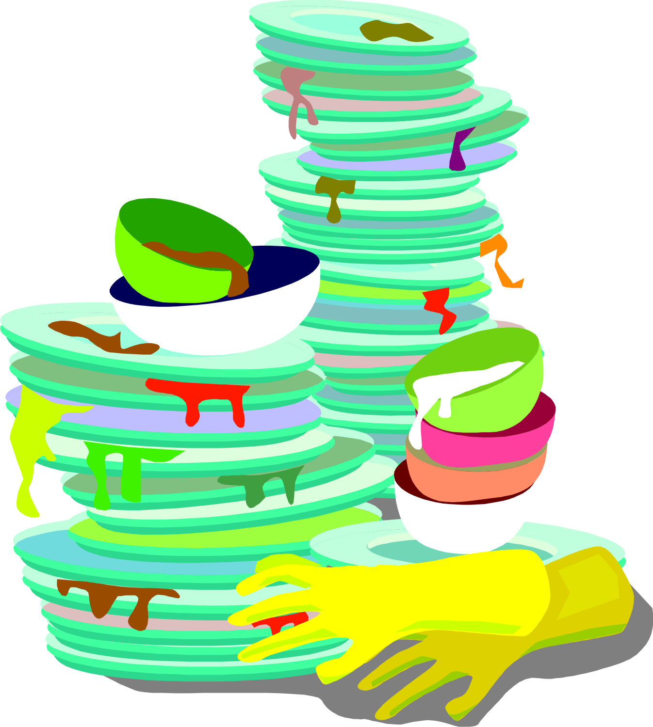 Dirty dishes clipart free graphic black and white stock Free Dirty Dishes Cliparts, Download Free Clip Art, Free Clip Art on ... graphic black and white stock