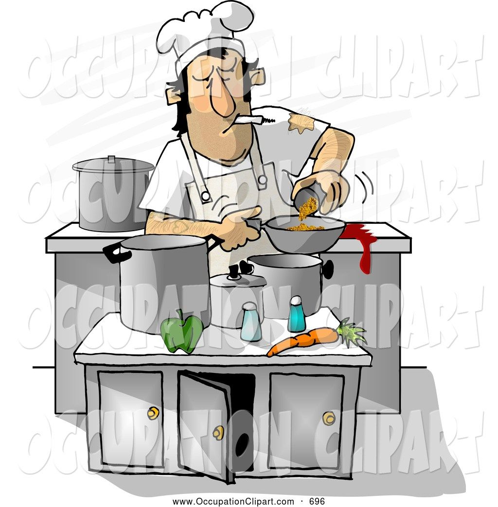 Dirty kitchen clipart picture black and white stock dirty kitchen clipart royalty stock occupation designs cooks dishes ... picture black and white stock
