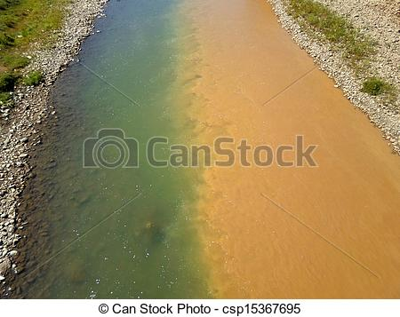 Dirty river water clipart clip library library Stock Photographs of water pollution - polluted river, half dirty ... clip library library
