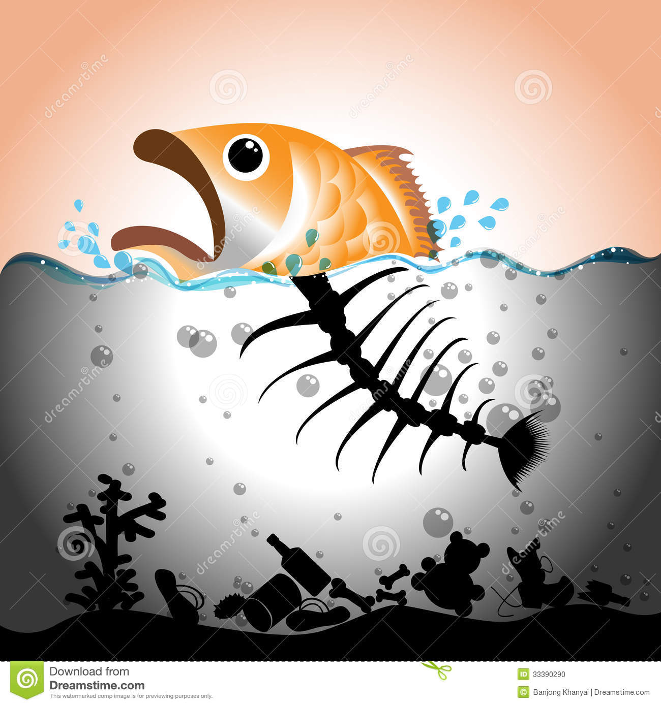 Dirty river water clipart image royalty free download Water Pollution Concept Stock Photo - Image: 33390290 image royalty free download