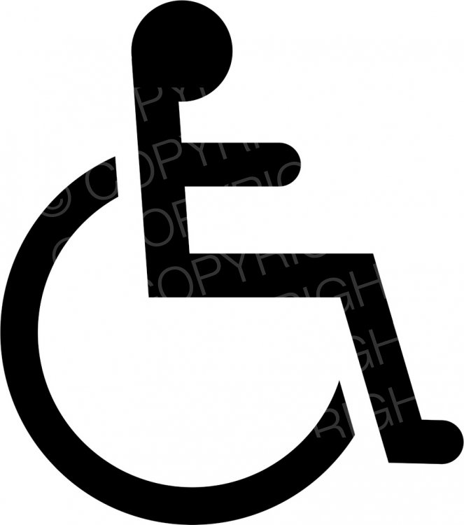 Disabled icon clipart banner freeuse library Black Disabled Icon Symbol Health and Medical Clip Art – Prawny ... banner freeuse library