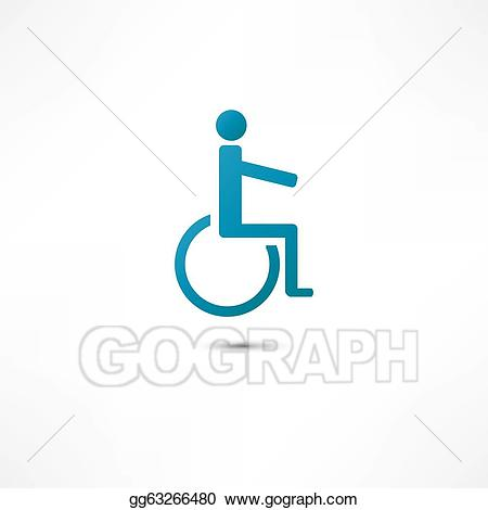 Disabled icon clipart royalty free library Vector Clipart - Disabled icon. Vector Illustration gg63266480 - GoGraph royalty free library