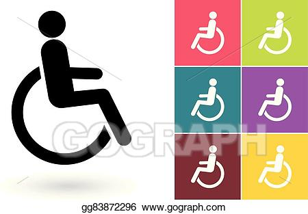 Disabled icon clipart graphic Vector Clipart - Disabled vector icon or disabled handicap symbol ... graphic