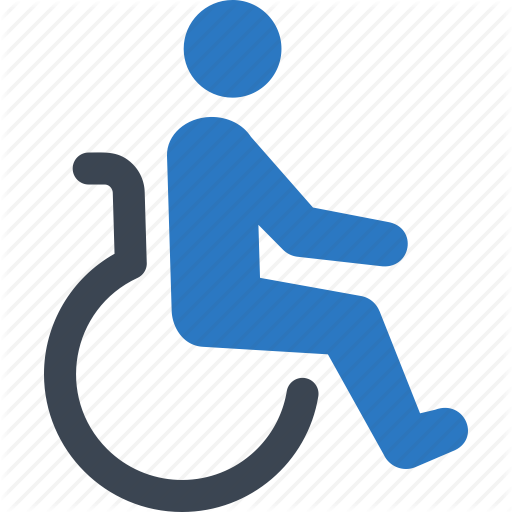 Disabled icon clipart png Hand Cartoon clipart - Blue, Text, Font, transparent clip art png