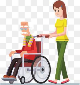 Disabled people walking clipart