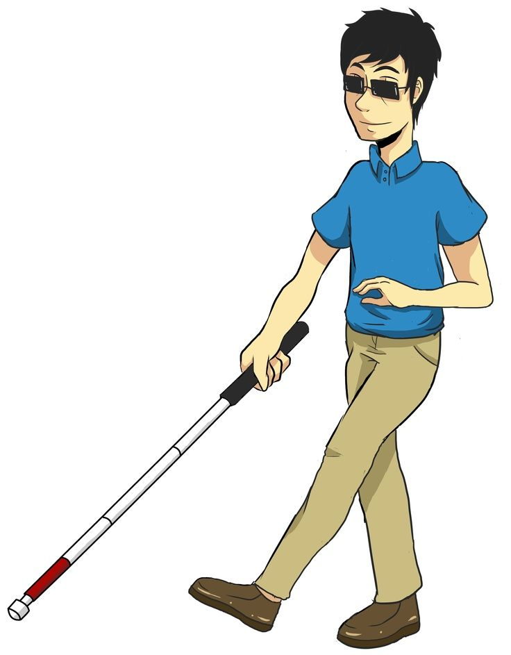 Disabled people walking clipart svg library library Free Walking Cane for The Blind | Freebies | Disability awareness ... svg library library