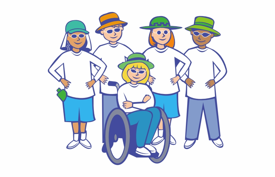 Disabled people walking clipart vector transparent Clip Art Group Of People Clipart - People With Disabilities Clipart ... vector transparent