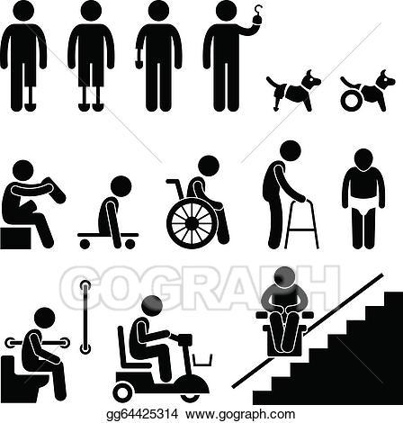 Disablility clipart clip art freeuse Person with disability clipart 9 » Clipart Station clip art freeuse