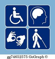 Disablility clipart jpg transparent library Disability Clip Art - Royalty Free - GoGraph jpg transparent library