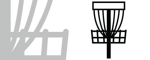 Disc golf basket black and white clipart image royalty free stock Disc Art - Innova Disc Golf image royalty free stock