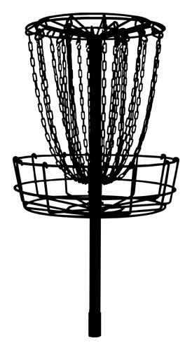 Disc golf basket black and white clipart jpg black and white library Pinterest jpg black and white library