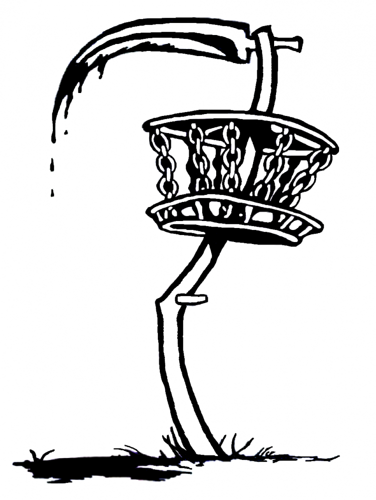 Disc golf basket black and white clipart clip art library library Disc golf paintings search result at PaintingValley.com clip art library library