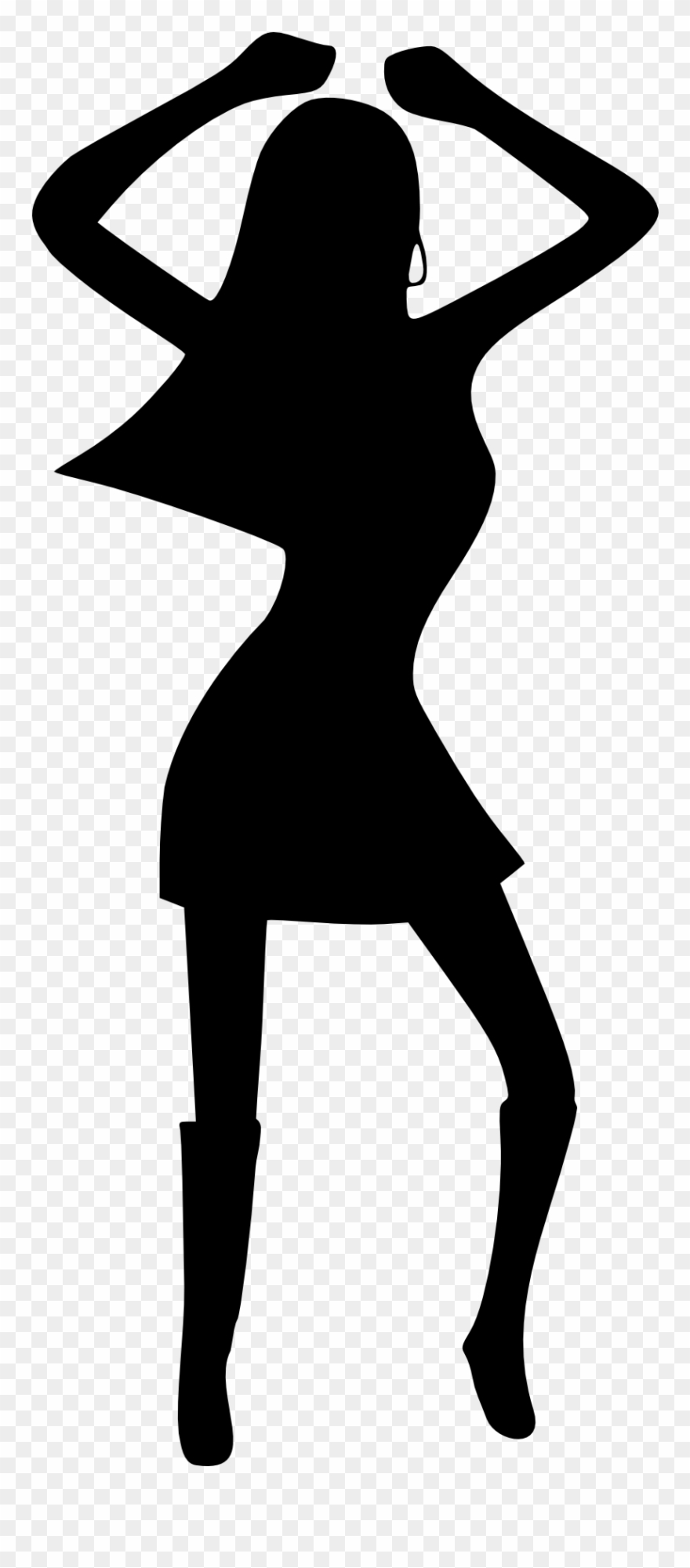 Disco dancer clipart svg royalty free library Girl Woman Dancing Disco Black White Drawing Silhouette - Disco ... svg royalty free library