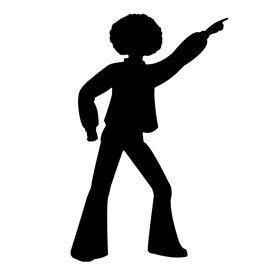 Disco dancer clipart clip free Disco Dancer Silhouette 01 Stencil | Free Stencil Gallery - ClipArt ... clip free