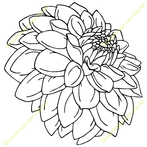 Discountmug clipart png black and white stock Pin by Paige Mattox on Tattoos I like | Flower line drawings ... png black and white stock