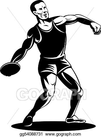 Discus thrower clipart jpg royalty free Stock Illustration - Athlete discus throw. Clipart Illustrations ... jpg royalty free
