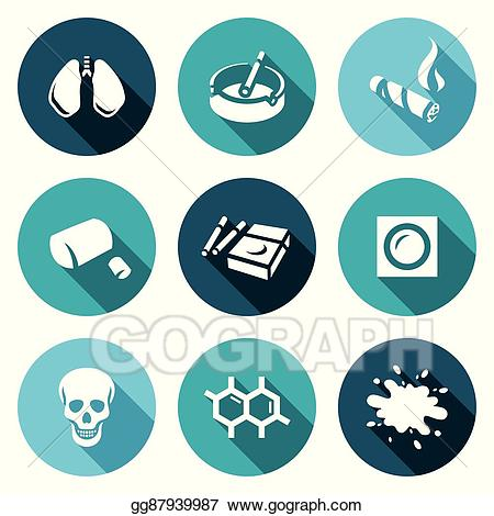 Disease death clipart picture black and white Vector Art - Vector set of smoking and cancer icons. lungs, ashtray ... picture black and white