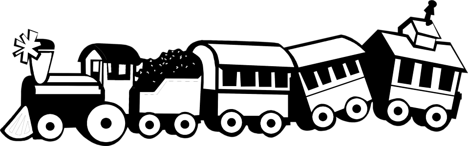 Holiday train clipart black and white free png library download Train Black And White Clipart | Free download best Train Black And ... png library download