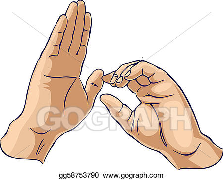 Disengage clipart vector royalty free Clip Art Vector - Hands showing one pulling gesture. Stock EPS ... vector royalty free