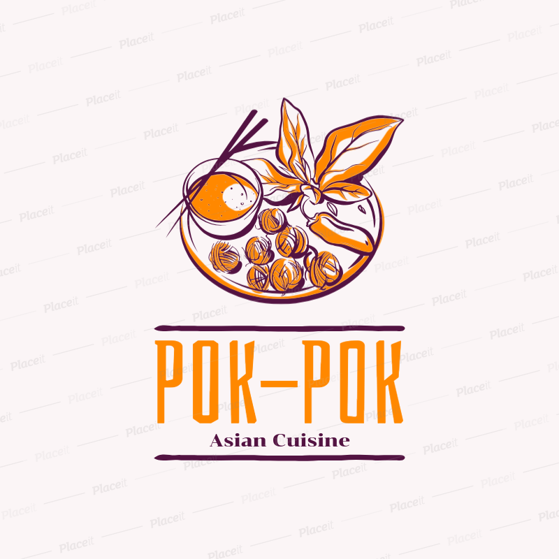 Dish logo clipart clipart library stock Thai Food Logo Generator with a Dish Clipart 1838b clipart library stock