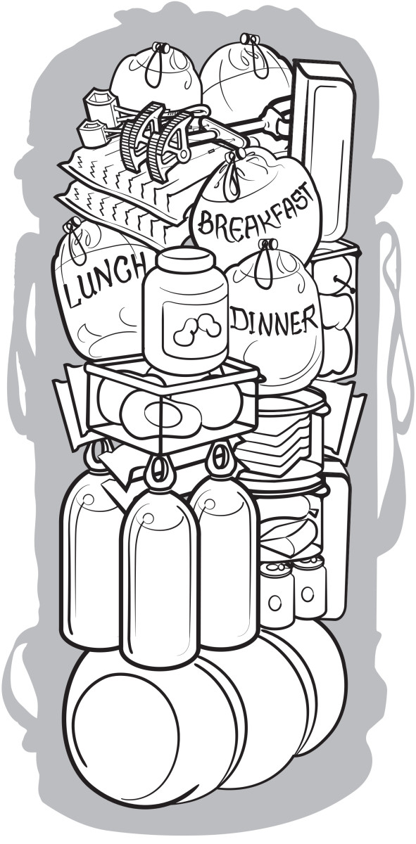 Dish to pass black and white clipart clipart free stock Learn This: Big-Wall Meal Planning - Climbing Magazine clipart free stock