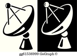 Dish tv images clipart banner library download Tv Satellite Dish Clip Art - Royalty Free - GoGraph banner library download