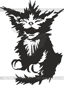 Disheveled clipart jpg library Black disheveled kitty sketch - vector EPS clipart jpg library