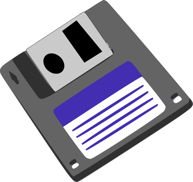 Diskette clipart vector free library Free Clipart: Floppy diskette | Machovka vector free library