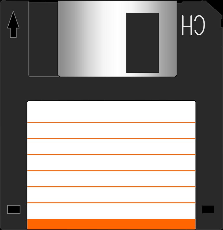 Diskette clipart jpg library Free Clipart: Floppy disk 3.5\