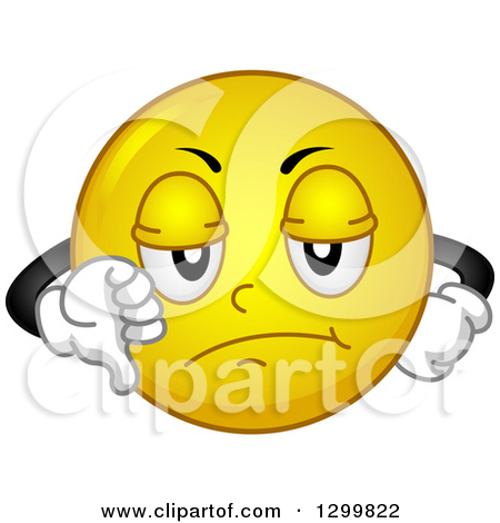 Dislike face clipart. Royalty free illustrations by