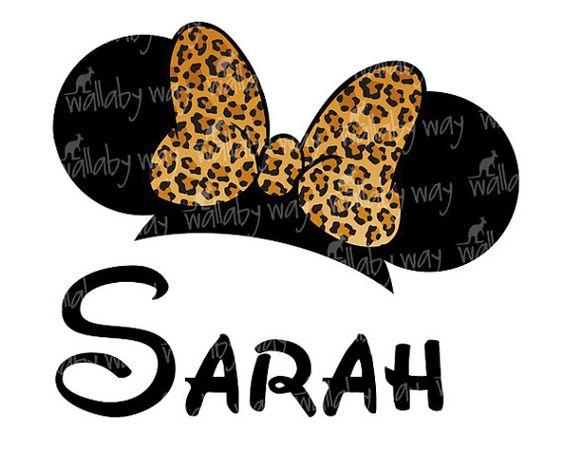 Disney animal kingdom clipart clipart royalty free Leopard Minnie Ears Printable Iron On Transfer - DIY Disney Shirt ... clipart royalty free