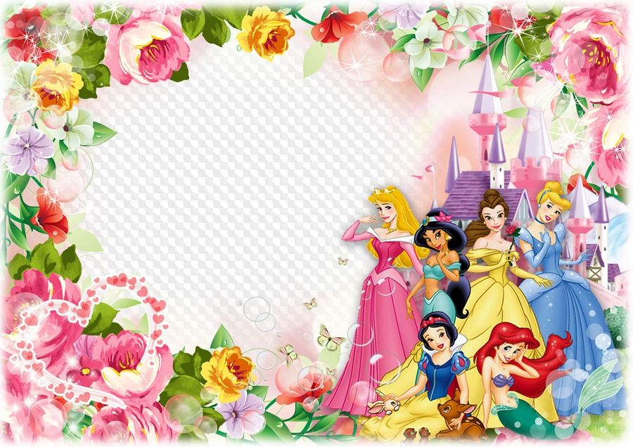 Disney baby princesses clipart boarder