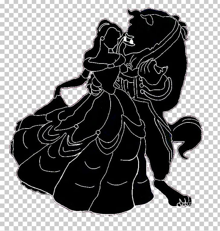 Disney beast clipart black and white clipart download Belle Silhouette Beauty And The Beast Black And White PNG ... clipart download