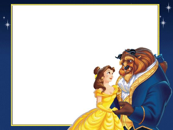 Disney belle background frame clipart. Beauty and the beast
