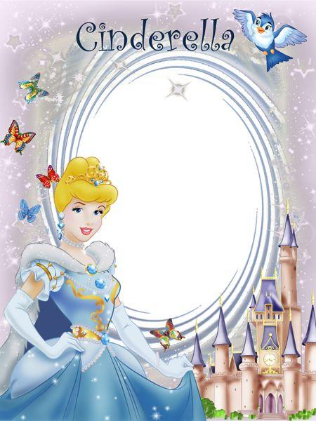 Disney belle background frame clipart. Transparent princess cinderella cute