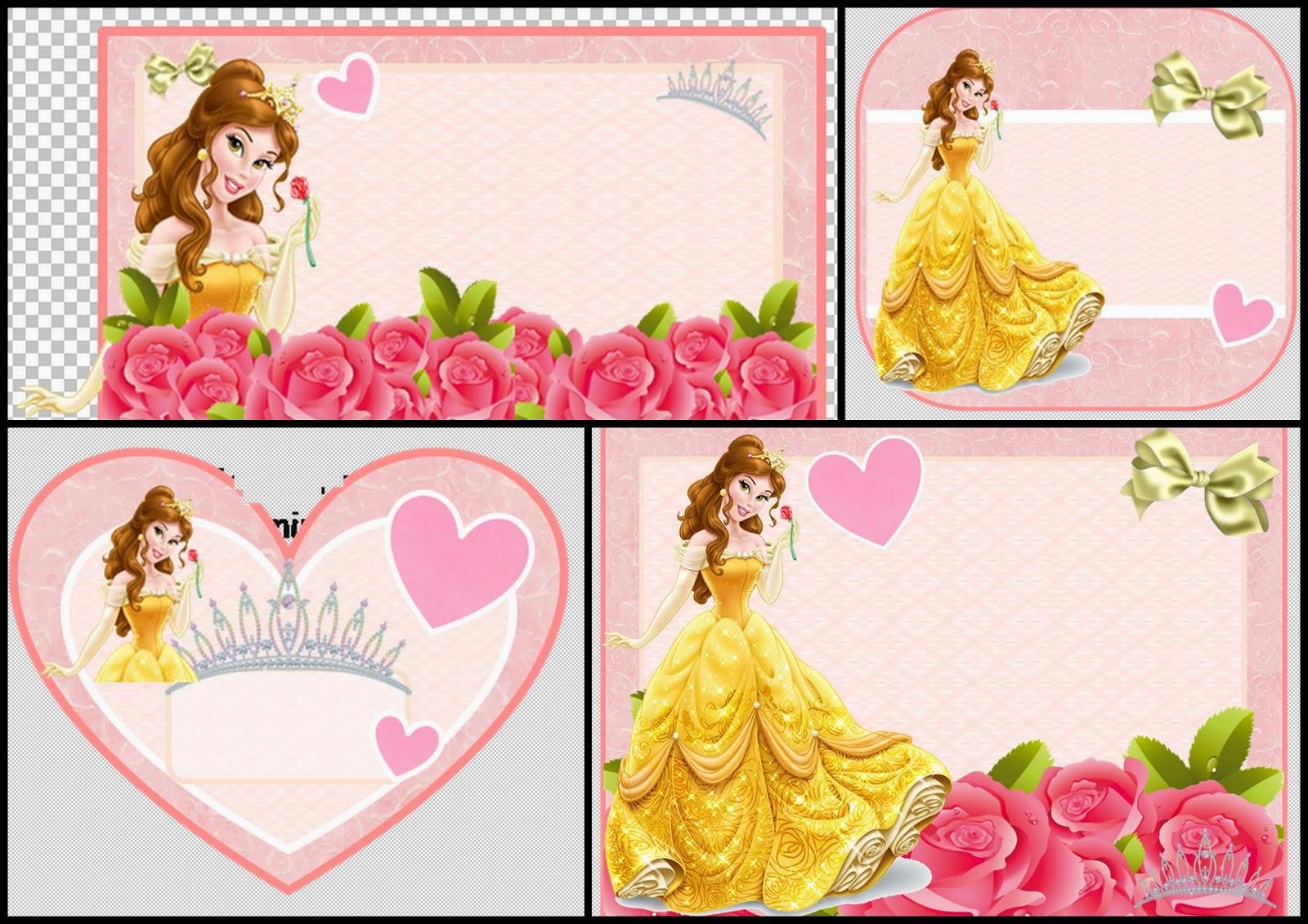 Disney belle background frame clipart clipart freeuse stock Belle Free Printable Invitations, Cards or Photo Frames. | Is it ... clipart freeuse stock