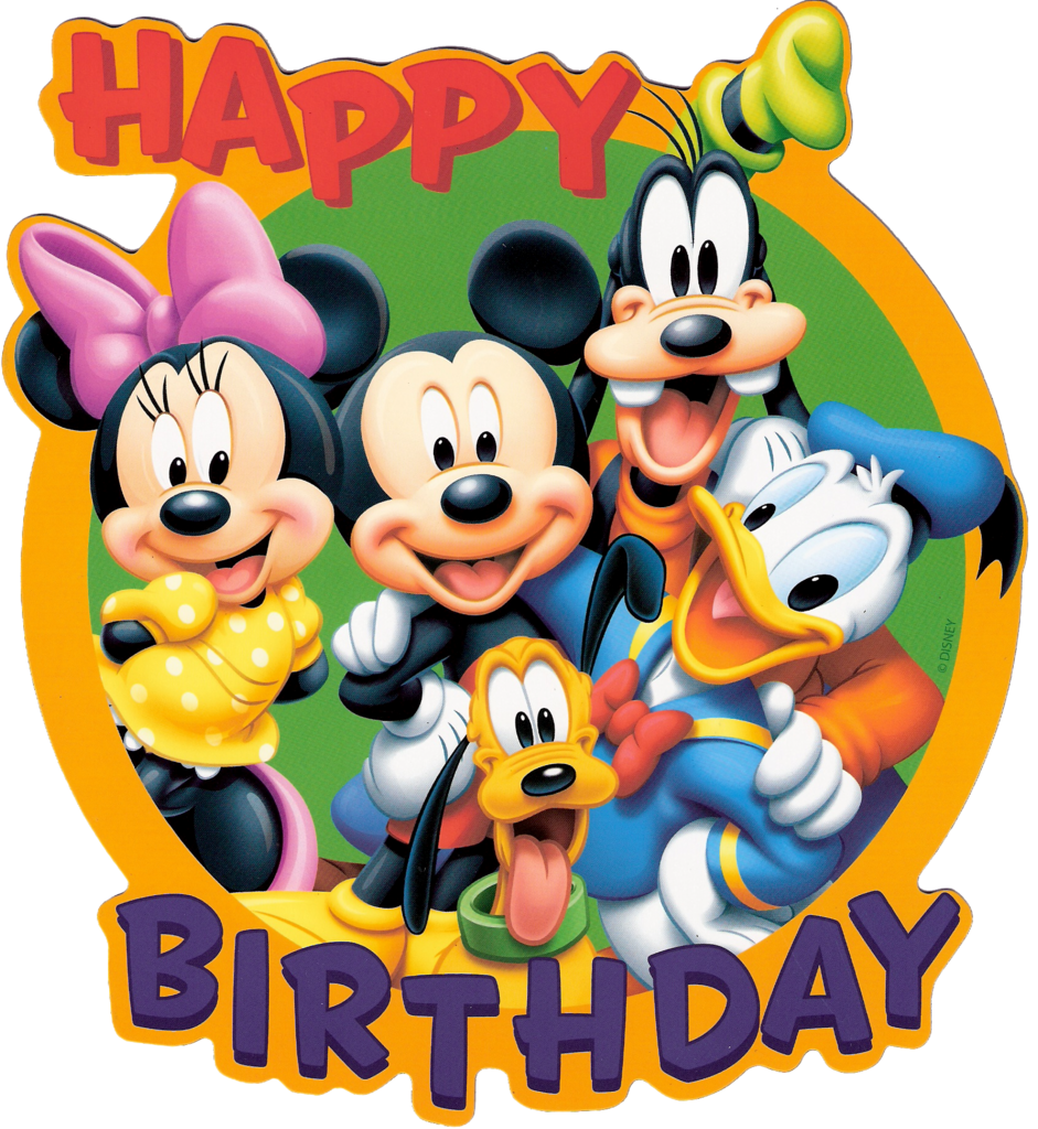 Disney birthday clipart image black and white Best Disney Birthday Clipart #18391 - Clipartion.com image black and white