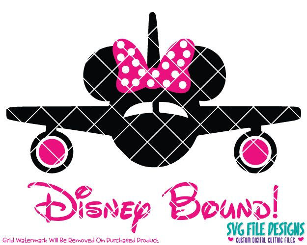 Disney bound clipart svg free library Disney Bound Minnie Mouse Airplane Cut File Set in SVG, EPS, DXF, JPEG, and  PNG svg free library